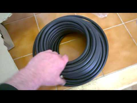 UNYY-J Underground Power Cable 3x 1.5 mm², 25 m, Black unboxing