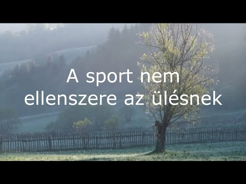 A sport nem ellenszere az ülésnek - Dr. Demény János