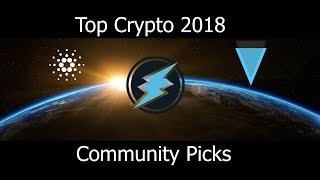 Top Cryptocurrency Community Picks For 2018 - ETN, ADA, IOTA, XVG