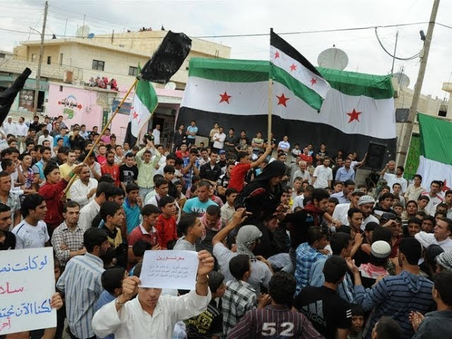 A Television Report on the Commemorations of the Syrian Revolution's Third Anniversary