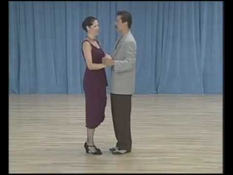 основные фигуры аргентинского танго - 09 Giro (molinete) a la derecha(1 часть)