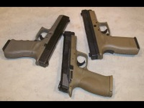 pistol - We take a few minutes with three popular pistols to compare features. All three of these are good pistols, here is a closer look at the Glock 22, Smith & Wes...