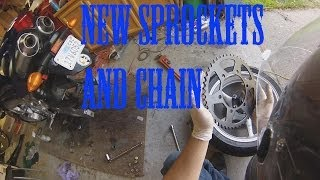 5. How to change Sprockets and Chain on FZ6