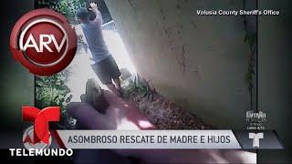 Aterrador rescate de una mujer y sus tres hijos | Al Rojo Vivo | Telemundo