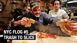 How to Make a Pizza Cutter from Trash | NYC FLOG #5 by Alex French Guy Cooking