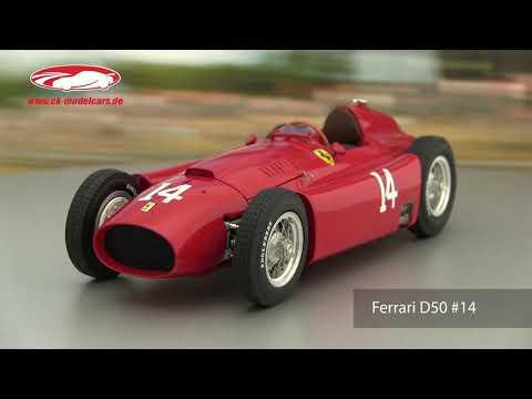 CMC - 1/18 - FERRARI D50 LONG NOSE - GP D'ALLEMAGNE 1956 - M-180