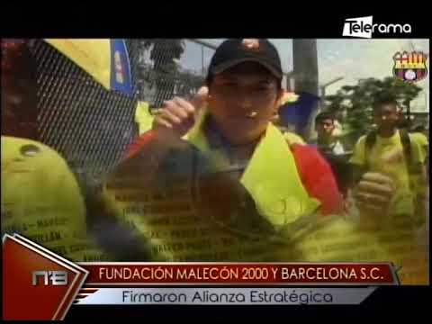 Fundación Malecón 2000 y Barcelona S.C. firmaron alianza estratégica