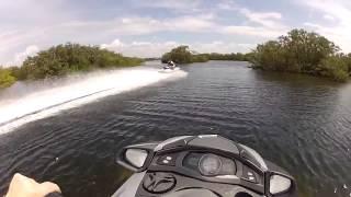8. Yamaha FX SHO Cruiser versus Kawasaki STX 15F jetski  top speed running