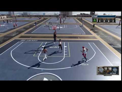 NBA 2K16 No look behind the backboard game winner