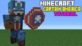 Minecraft Tutorial: How To Make A Captain America Statue (Captain America: Civil War)