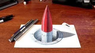 "Drawing a 3d misile on paper.................................................................................................It took me:1 hour....................................................................................................MATERIALS:Bristol paperPrismacolor Ebony or 7b pencilMarkersColored pencilGel pen.............................................................................................MUSIC:http://incompetech.com/music/royalty-free/music.html""Mountain Emperor"" Kevin MacLeod (incompetech.com)Licensed under Creative Commons: By Attribution 3.0 Licensehttp://creativecommons.org/licenses/by/3.0/............................................................................................Follow me:Youtube: https://www.youtube.com/user/MyDrawingTipsTwitter: https://twitter.com/MyDrawingTipsFacebook: https://www.facebook.com/MyDrawingTipsPinterest: http://www.pinterest.com/dashedtips/Blogger: http://miltoncor.blogspot.com/Deviantart: http://miltoncesar.deviantart.com/...............................................................................................Thanks for watching and please subscribe to my channel MyDrawingTips ChannelMilton Cor ©2014..............................................................................................."