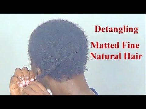 The Perfect Detangling Method for Fine Delicate Natural Hair