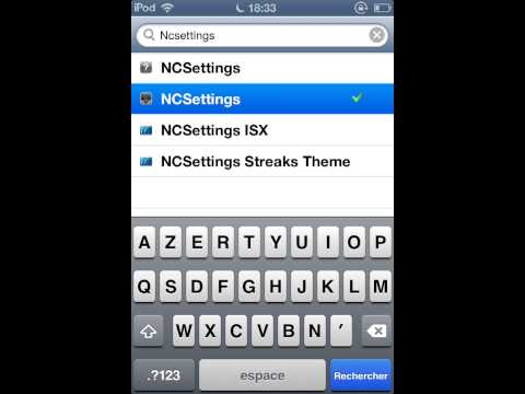 comment installer ncsettings