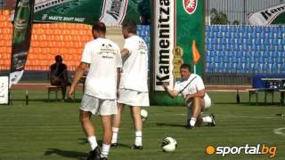 Trifon Ivanov wärmt sich für Legenden-Spiel auf