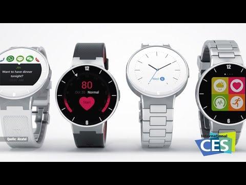 CES 2015: Smartwatch von Sony, Alcatel und Withings / Knöpfe für Smarthphones