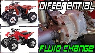 4. Change Differential Fluid TRX250EX 250X