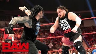 Roman Reigns and Samoa Joe spark an all-out brawl : Raw, July 29, 2019