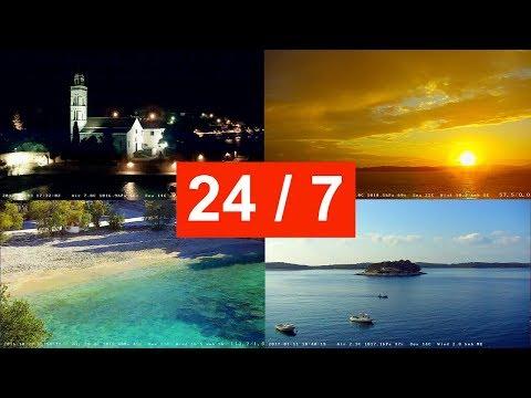 Live-Cam: Kroatien - Hvar (Stadt & Insel) - Blick auf d ...