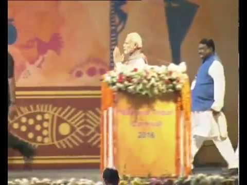 PM Modi Inaugurates National Tribal Carnival Video