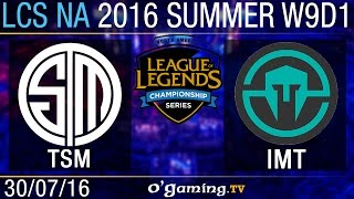 TSM vs Immortals - LCS NA Summer Split 2016 - W9D1