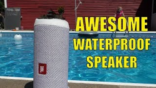 JBL Flip 4 Bluetooth Waterproof Speaker Review - HUGE SOUND in this speaker!