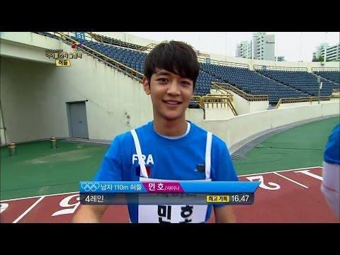 【TVPP】Minho(SHINee) – M Hurdles Final, 민호(샤이니) – 남자 허들 금메달 @ Idol Star Olympics