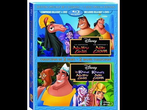 Disney's The Emperor New Groove And Kronk's New Groove On Blu Ray And DVD