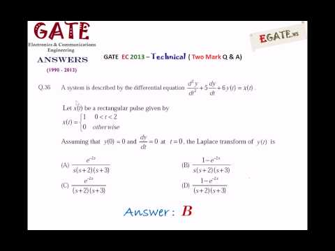 GATE  2013 ECE (Electronics & Communications) – Answers for All 65 Questions