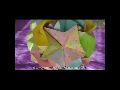 Kusudama Tutorial - 007 -- Magic Rose Cube