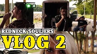 "Redneck Souljers present our second vlog! Guest appearance by Farmer Green. Tell us what y'all wanna see more of in the comments! Like & Follow us to keep up with our shenanigans in the links below! SUBSCRIBE!Watch 'Backwoods Badass' here: http://youtu.be/WbpxB-RlANcWatch 'I Mow, I Till here: http://youtu.be/M9Q60skXXx4Watch 'Down This Road' here: http://youtu.be/3HYn2CFSdsgWatch 'Killin Shit' here: http://youtu.be/NQza0svS2WAWatch 'Don't Like' here: http://youtu.be/XPiamxQclhYWatch 'Tiller Gang' here: http://youtu.be/5Oo0xWA0wzIWatch 'Fish' here: http://youtu.be/TCWlSTPs5LsBooking/business inquiries: rednecksouljerstv@gmail.comOfficial Site: http://www.rednecksouljers.comMerch: http://www.rednecksouljers.bigcartel.comFacebook: http://www.facebook.com/rednecksouljersTwitter: http://www.twitter.com/rednecksouljersInstagram: http://www.instagram.com/rednecksouljersVevo: http://www.youtube.com/rednecksouljersvevoSoundcloud: http://www.soundcloud.com/rednecksouljersDownload our debut album on iTunes!http://smarturl.it/TillerGangiTunesDownload our new single ""Bounce"" on iTunes:http://smarturl.it/RSBouncePersonal Facebooks:http://www.facebook.com/FattTarrRShttp://www.facebook.com/CHubbRS"
