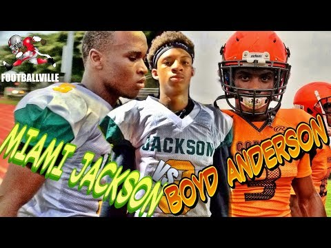 Miami Jackson vs Boyd Anderson highlights | Grind Time 2018 | Spring football