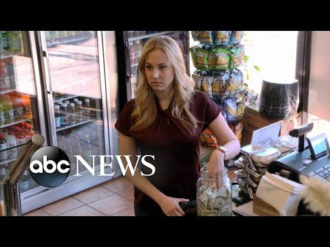 Blonde woman and black man steal money from deli tip jar [TIP JAR PART 1] | What Would You Do?