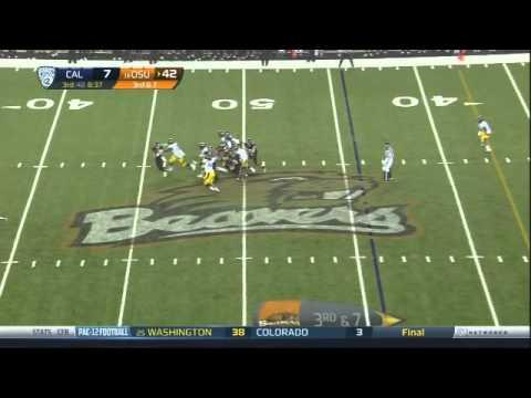 Deandre Coleman sack vs Oregon St. video.