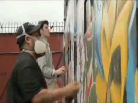 Boundary pushing NYC graffiti artists to beautify Israeli cities