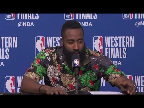 James Harden & PJ Tucker Postgame Interview - Game 2   Warriors vs Rockets   2018 NBA West Finals