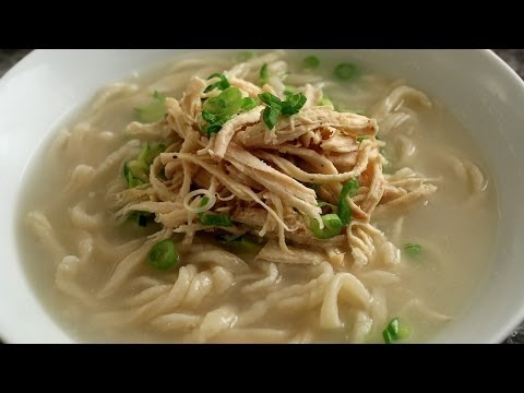 Korean Chicken Noodle Soup from Scratch (Kalguksu) - Maangch…