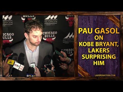 Video: Pau Gasol On Kobe Bryant Surprising Him, Lakers Honoring Him