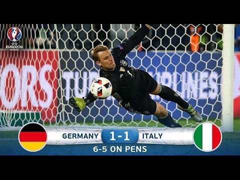 Germany vs Italy [1-1] (6 – 5) Goals & Penalties