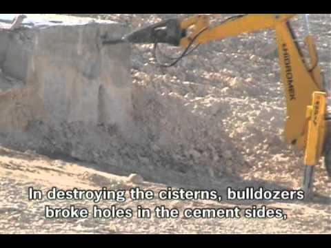 Kheshem Ad Darj cisterns demolition