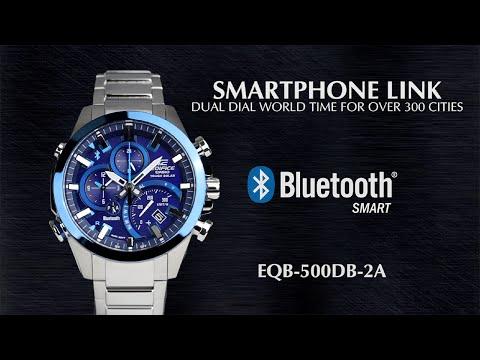 CASIO EDIFICE SMARTPHONE LINK EQB-500DB product video (видео)
