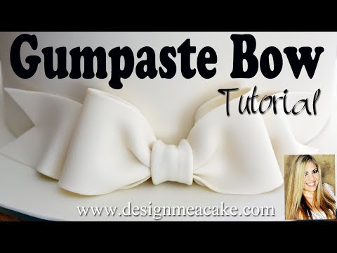 Easy Gumpaste Bow Tutorial