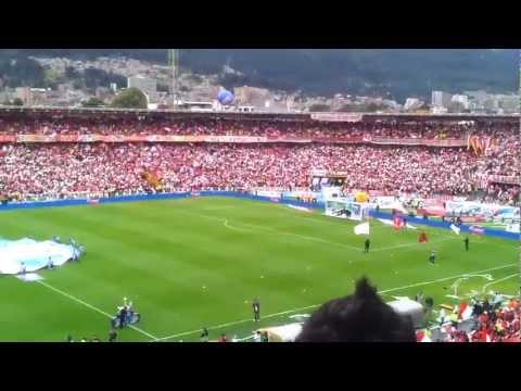 Santa Fe Campeón 2012-1 (3/8) Hinchada Alentando (HD) - La Guardia Albi Roja Sur - Independiente Santa Fe