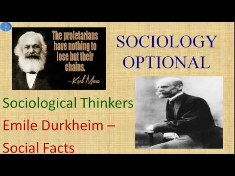 Emile Durkheim Theory of Social Facts Sociology Optional UPSC CSE