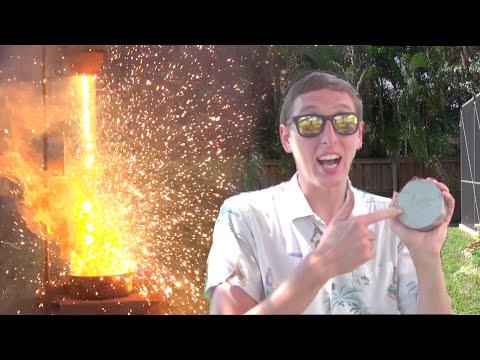 Molten Iron Vs. HUGE Magnet (видео)