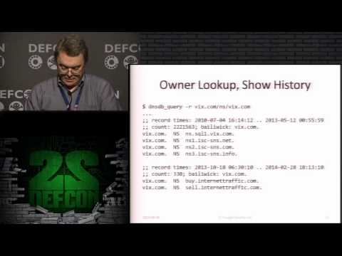 DEF CON 22 - Dr. Paul Vixie - Domain Name Problems And Solutions