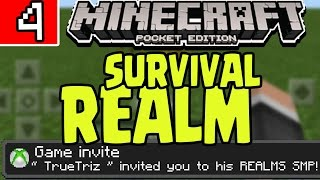 """MCPE REALMS SURVIVAL SMP PE! 0.16.0 Q&A """"JOIN MY REALMS WORLD"""" HARDCORE Minecraft PE Pocket Edition"""