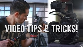 Video Tips and Tricks - this video is a good one.