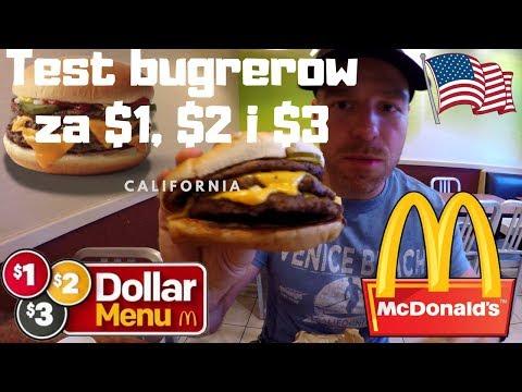 Test burgerów McDonald's za $1, $2, $3 w USA