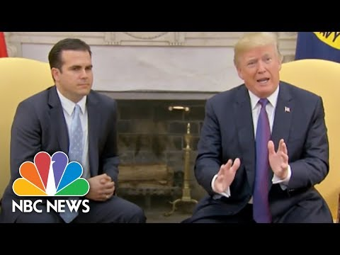 President Donald Trump Gives White House A '10' For Puerto Rico Response | NBC News