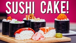 Video How to Make SUSHI CAKE! Chocolate Jelly Roll Sponge, Ginger Infused Buttercream & Candy Toppings! MP3, 3GP, MP4, WEBM, AVI, FLV Maret 2018